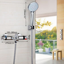 Bathroom Constant Tempterature Shower Sets With Round Shower Heads Mixer Valve