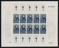 """COLONIES FRANCAISES STAMP N° 65 """" RESISTANTS 1F50+98F50 FEUILLE"""" NEUFxx TTB T609"""