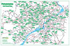 Golf Road Map - Philadelphia Golf Map - Golf Travel Map - Golf Assessory