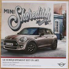 Rare catalogue Mini Shoreditch (Hatch 3 et 5 portes) France - Mars 2017 - 6p
