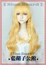 東方プロジェクト Kirisame Marisa Anime Cosplay Wig Air Long Curly Mixed Blonde Wig