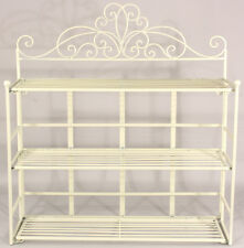 Shabby Chic Folding 3 Tier Bookcase/ SHELVES/ Storage/ Display Shelves Ivory
