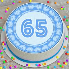 AGE 65 65TH BIRTHDAY PRECUT EDIBLE ICING CAKE TOPPER DECORATION 7.5 INCH BDCD234