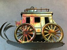 "Vintage Copper Tin Metal Art ""Stage Coach"" - Beautiful!"