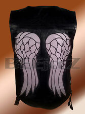 The Walking Dead Governor Daryl Dixon Angel Wings Leather Vest Stylish Jacket