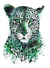 Temporäres Tattoo Leopard Panter Puma Wasserfest Einmal Klebetattoo Körperkunst