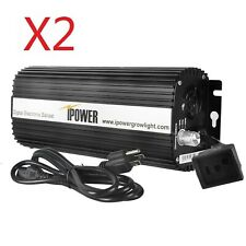 iPower 600 Watt Digital Dimmable Electronic Ballast for HPS MH Grow Light 2-Pack