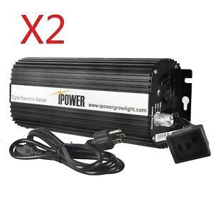 iPower 600 Watt Digital Dimmable Electronic Ballast for HPS MH Grow Light 2-Pack