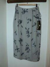Mid-Calf Straight, Pencil 100% Silk Skirts for Women