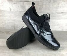 AGILIS Shoes Glossy Black Sneakers EUR 40 Women's US Size 9-9.5