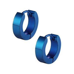 1 Pair PUNK Men Women Hoop Ear Stud Stainless Steel Earring Hoop Piercing S AG