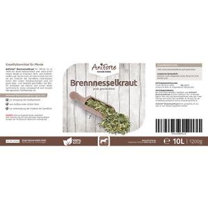 10L Aniforte Brennessel-Kraut geschnitten für Pferde haut und Haar  Kieselsäure