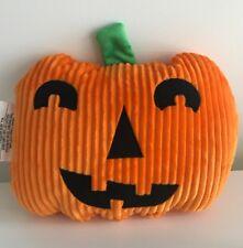 Halloween Hyde and Eek Plush Pumpkin Face Pillow Jack O Lantern Decor Orange