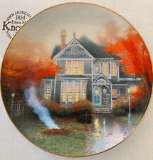 """Thomas Kinkade """"Amber Afternoon"""" Collector's Plate ~ Home Is Where The Heart Is"""