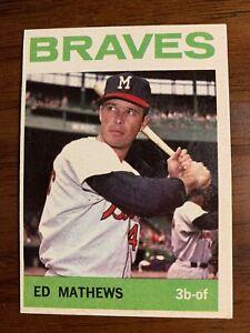 1964 Topps Eddie Mathews Milwaukee Braves #35 Baseball Card