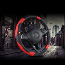 Universal Car Truck Accessories Sport Black& Red Steering Wheel Cover 38cm/15