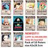 Carteles Wanted One Piece Anime Poster Luffy Ace Jinbe Nami Robin Zoro Sanji
