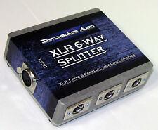 NEW XLR 6 Way Splitter Mic Line Level Parallel Splitter XLR 1 In 6 Out