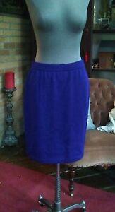 St. John By Marie Gray Blue Knit skirt Size 10