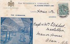London Postcard. McPherson's Gymnasium. Royal Patronage!   Sloane Chelsea. 1903