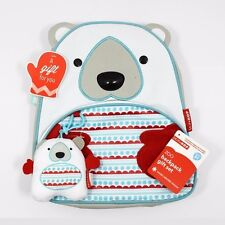 Skip Hop Zoo Polar Bear Backpack Winter Special Set With Plush Toy Toddler Kids