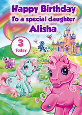 - MY LITTLE PONY - IDEAL FOR DAUGHTER CHILDREN'S PERSONALISED BIRTHDAY CARD