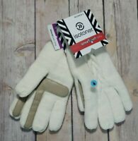 Isotoner Womens Gloves Smart Touch Ivory Knit Smartouch Tech Texting NEW