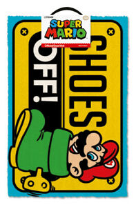 SUPER MARIO (SHOES OFFCOLOUR) DOORMAT *OFFICIALLY LICENSED*