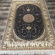 YILONG 4'x6' Handmade Silk Carpet Home Interior Living Room Oriental Rug Y405C