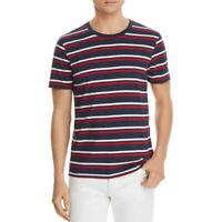 Pacific & Park Mens Navy Striped Short Sleeves Tee T-Shirt S BHFO 2746