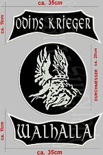 ODINS KRIEGER WALHALLA Rückenpatch Aufnäher 3-TEILIG set