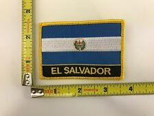 El Salvador Flag Patch Salvadorian iron-on embroidered stitching new