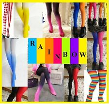 Rainbow Colors Pantyhose  surprise Choice  one size jack andrew