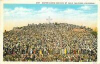 DB Postcard CA D217 Easter Sunrise Services Mt Helix San Diego California