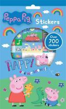 Peppa Pig Set mit 700 wiederverwendbaren Aufklebern 9 Blätter Sticker George Pig