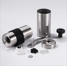 New Manual Coffee Grinder Silica&Stainless Steel Portable Hand Crank Bean Mill#