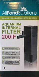 All Pond Solutions (200IF) Internal Box Filter for 35  Litre Aquarium