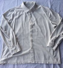 george mens long sleeve tan button front shirt 2XL