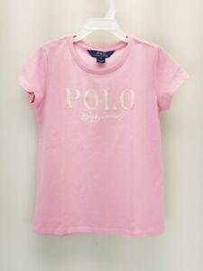*NWT*Polo Ralph Lauren Kids girl 5-7 Logo Cotton Jersey Tee