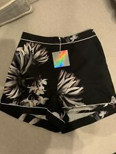 Missguided Size 8 Oriental Floral Printed Shorts With Pockets Bnwt