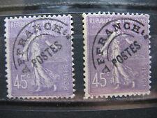 FRANCE oblitérés  préoblitérés n° 46 violet et lilas