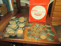 Vintage Kerr Cork Bottle Caps with Box New Old Stock Approx 120 Made USA