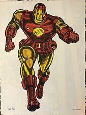 Vintage 1966 IRON MAN MMMS FAN CLUB POSTER! Marvelmania! RARE!
