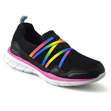 Girls Kids Childrens Casual Slip On Summer Sports Running Trainers Shoes Size