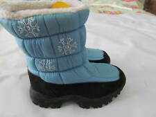 New Kid Connection Winter Snow Blue/Black Kids Full Lined Boots Size 11