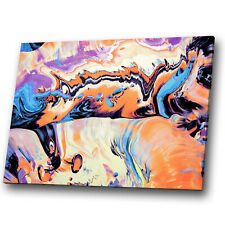 Orange Blue Black Purple Abstract Canvas Wall Art Large Picture Prints