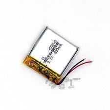 Li-polymer Battery 3.7V 350 mAh Rechargeable Li-Po for MP3 MP4 GPS  PSP 403030