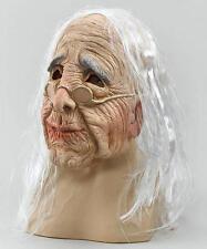 Spaventosa OLD WOMAN Grandma MASCHERA PARRUCCA, HALLOWEEN FANCY DRESS