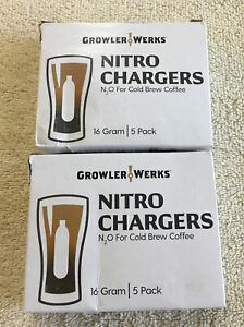 Lot Of 2 Packs Of GROWLERWERKS Cold Brew Nitro Chargers