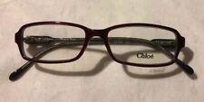 Chloe Women's Eyeglass Optical Frames * Burgundy & Grey * CL 1114 C03 140 * NWT